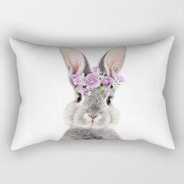 Bunny With Flower Crown Rectangular Pillow