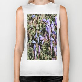 road trip, flowers, high altitude, blue, purple Biker Tank