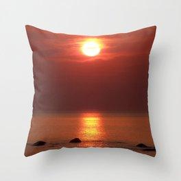 Halo Sunset Glow Throw Pillow