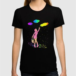 Graffiti Manga Rainbow Clouds Girl T-shirt