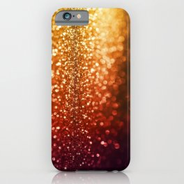 Fire and flames - Red and yellow glitter effect texture iPhone Case