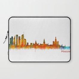 Moscow City Skyline art HQ v2 Laptop Sleeve