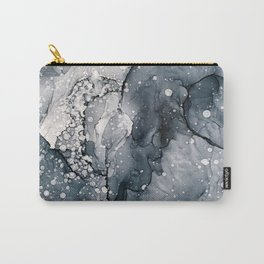 Icy Payne's Grey Abstract Bubble / Snow Painting Carry-All Pouch