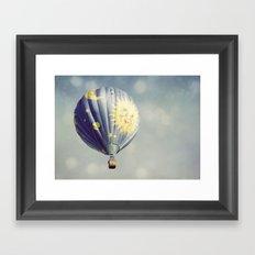 Moon and Stars Hot Air Balloon Framed Art Print