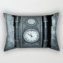 Silver Steampunk Generator Machine Rectangular Pillow