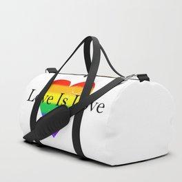 Love Is Love Rainbow Pride Heart 5 Duffle Bag