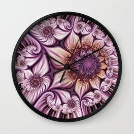 Noblesse 2, Modern Abstract Fractal Art Wall Clock