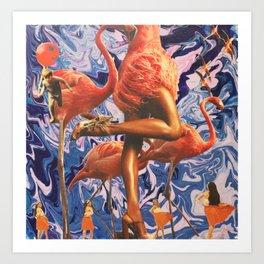 Lets Flamingo Art Print