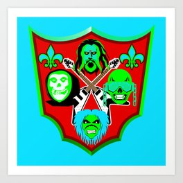 Tribute to Metal Icons Art Print