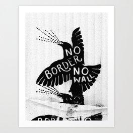 No Border. No Wall. Art Print