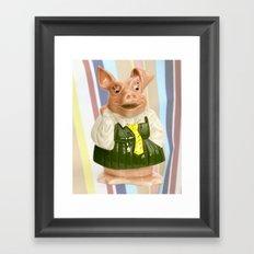 Nat West Piggy Bank Ceramics Framed Art Print