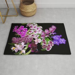 Orchids - Cool colors! Rug