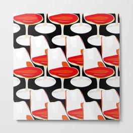 Pop Modern Colour Electric Chair Art Metal Print