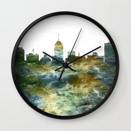 Fresno Skyline California Wall Clock