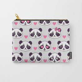 Cute pattern with panda. Carry-All Pouch