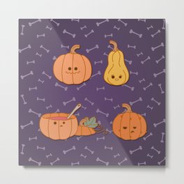 Pumpkin season Metal Print