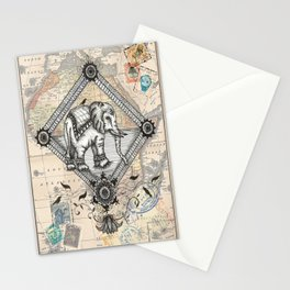 Vintage Elephant Stationery Cards