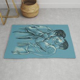 Kissing an Angel - Destiel Sketch Rug