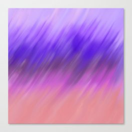 Hand painted pink violet watercolor brushstrokes ombre Canvas Print