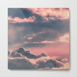 Clouds Above Metal Print
