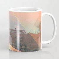 tesla Mugs featuring tesla by michelle borjon