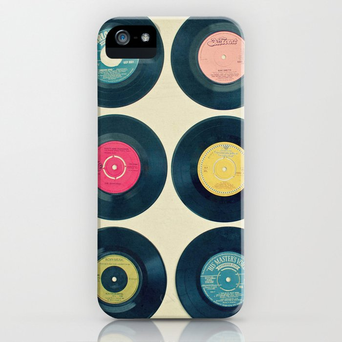 vinyl collection iphone case