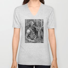 Don Quixote print | Quijote by Cervantes - Fine Art products Unisex V-Neck