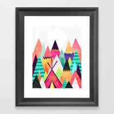 Land of Color Framed Art Print