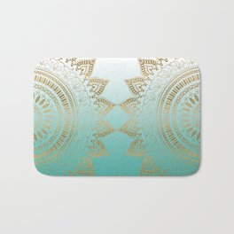Pretty hand drawn tribal mandala elegant design Bath Mat