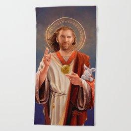 Saint Nicolas of Cage Beach Towel