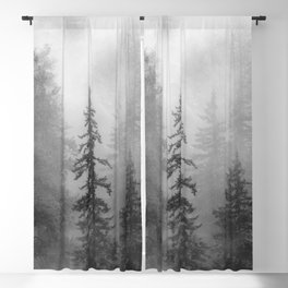 Forest In The Clouds - Nature Photography Blackout Curtain