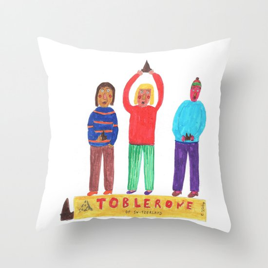 Toblerone. Throw Pillow