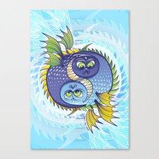 Monstrous Yin Yang Canvas Print