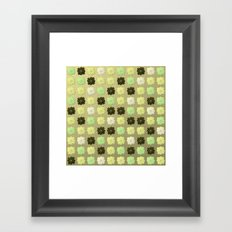 Modern Lotus - Golden Mint Framed Art Print