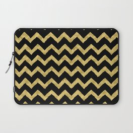Chevron Black And Gold Laptop Sleeve