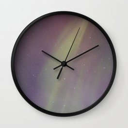 Aurora Borealis Drapes Wall Clock