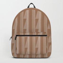 Modern Geometric Pattern 8 in Cinnamon Spice Backpack