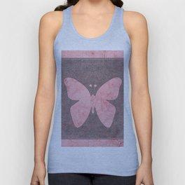 Decorative Pink Paper Texture Butterfly Design Unisex Tank Top