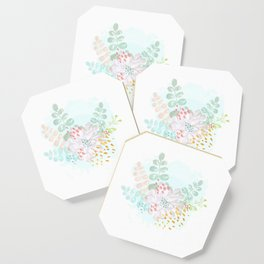 Paint splatter flower Coaster