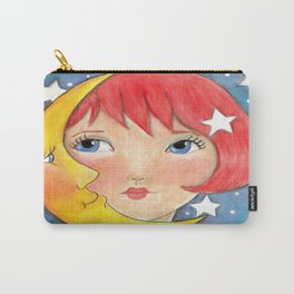 Whimiscal Moon Girl Carry-All Pouch