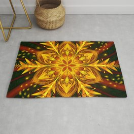 Forest Fire Flake Rug