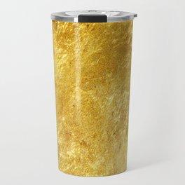 Realistic Rustic Gold Travel Mug
