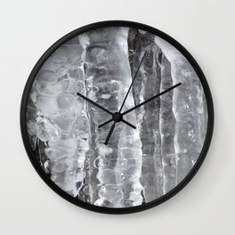 Watercolor Ice 46, The Colonnade Wall Clock