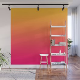 Hot Pink / Golden Heart Gradient Colors Wall Mural