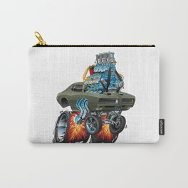 Classic American Muscle Car Hot Rod Cartoon Vector Illustration Carry-All Pouch