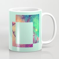 decal Mugs featuring Space Decal by artii
