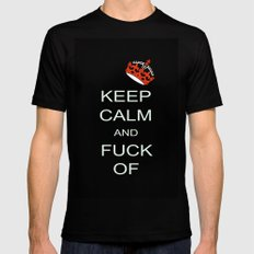 keep calm Black Mens Fitted Tee SMALL