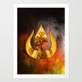 Chandra Nalaar the Firebender Art Print