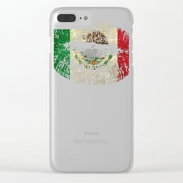 Mexican Design Mexican Flag Lips Design For Mexican Pride Clear iPhone Case