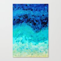 waves Canvas Prints featuring INVITE TO BLUE by Catspaws